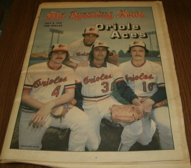 The Sporting News July 8, 1978 issue Jim Palmer and Baltimore Orioles Aces
