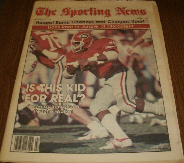 The Sporting News November 22, 1980 issue Herschel Walker Georgia Bulldogs