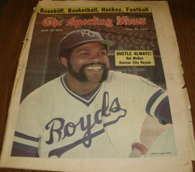 The Sporting News June 28, 1975 issue Hal McRae Kansas City Royals
