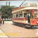 Historic Detroit Michigan and Trolley Cars