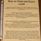 How to Know and Find GOD