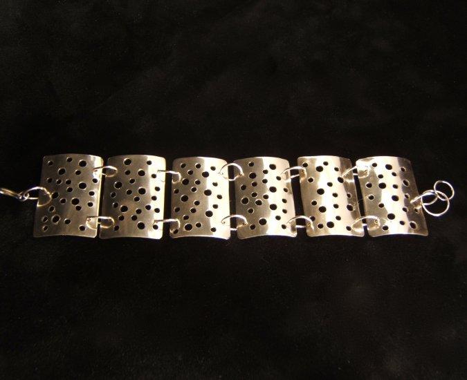 Wide Drilled Bracelet