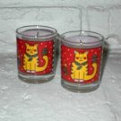 Christmas Kitty Cat Votive Candle Holders