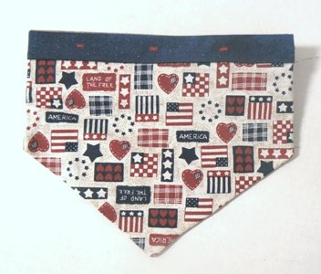 Small - Dog Bandana - American Hearts