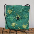 Small Square Purse Bag w/ Leaping Frogs Print