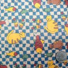1 Yard - Sewing Fabric - Cat Fish Mice Blue