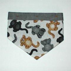X-Small - Kitty Cat Size Bandana - Raining Cats Print