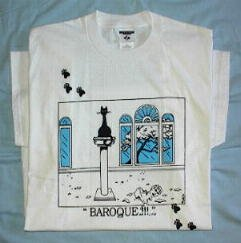 Baroque!!! Cat T-Shirt - (Size Large)
