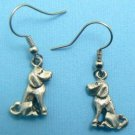 Sitting Dog Earrings – Pewter (Silver Toned)