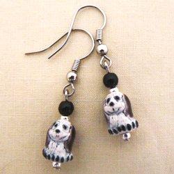 Peruvian Puppy Dog Earrings - Brown