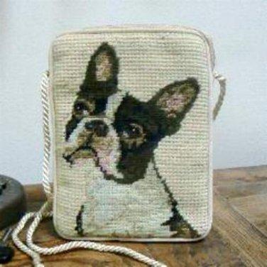Boston Terrier Needlepoint Purse