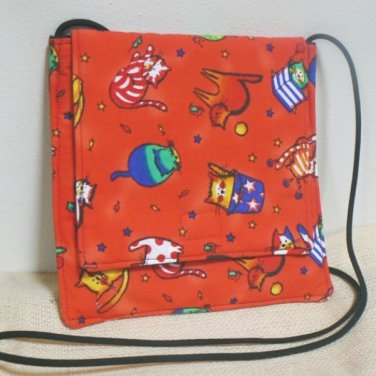 Small Square Fabric Purse w/ Tubby Cats
