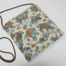Small Square Fabric  Purse w/Cats in Baskets
