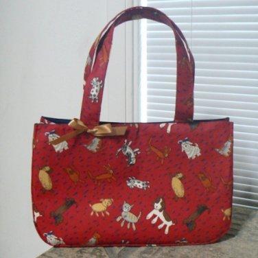 Raining Cats & Dogs Fabric Tote Bag