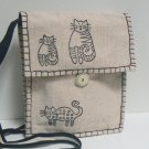 Whimsical Kiity Cats Shoulder Bag Purse – Cream