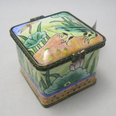 Frog Square Postage Stamp Holder / Dispenser