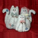 Feline Family - Hand Crafted Felt Cat Stuffed Animals
