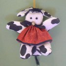 Black & White Cow Fabric Christmas Tree Ornament