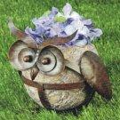 Owl Resin & Metal Flower Pot Planter Stand
