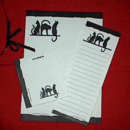 Black Cat Silhouettes Stationery Sheets