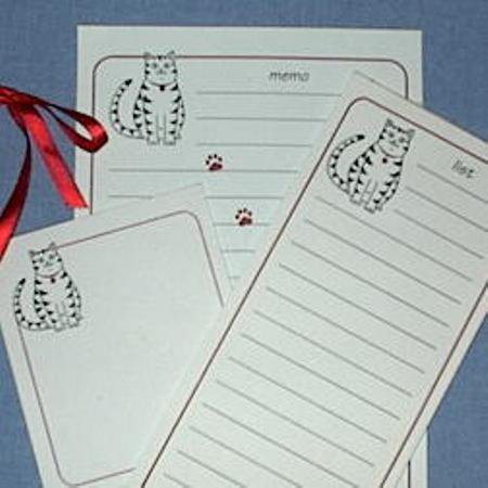 Tabby Cat Stationery Set