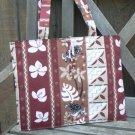 Hawaiian Turtles Floral Maroon Laptop Tote