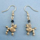 Poodle Dog Earrings – Pewter (Silver Toned)