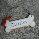 Personalized Dog Bone Wood Christmas Tree Ornament
