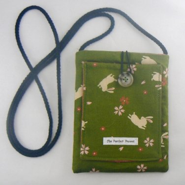 Mini Pouch with Bunnies & Blossoms Purse Bag