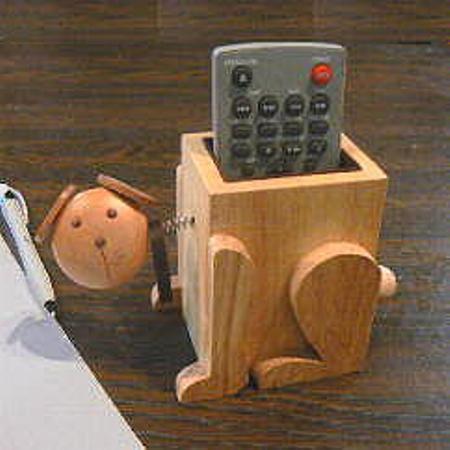 Wood Dog Eyeglass Holder / Remote Caddy