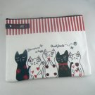 Meow Me Cat Zippered Cosmetic Pen Pouch Bag