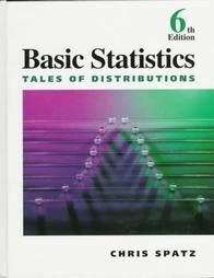 Basic Statistics by Chris Spatz (1996, Hardcover)