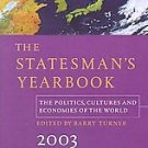 The Statesman's Yearbook 2003 (2002, Hardcover)