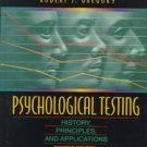 Psychological Testing by Robert J. Gregory (1996, Ha...
