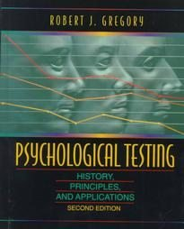 Psychological Testing by Robert J. Gregory (1996, Ha...