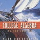 College Algebra by Mark Dugopolski (1998, Hardcover)