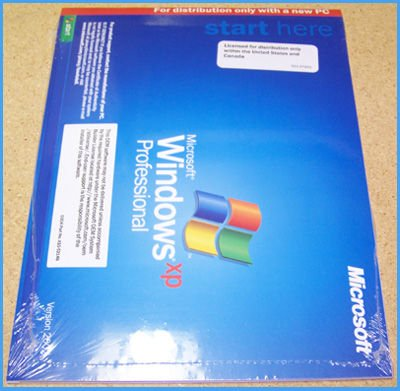 MICROSOFT WINDOWS XP Pro Professional 32-bit FULL w/SP3 COA & Sealed New (Unopened)