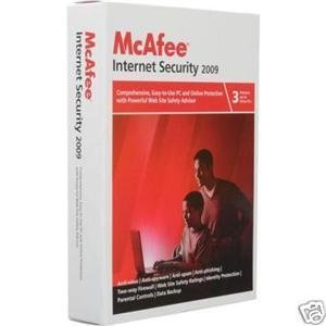Mcafee Internet Security 2009 w/FREE upgrade to 2010 - 3 User