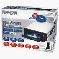 Norwood Micro Dual Format DVD Recorder/double Layer (External USB)