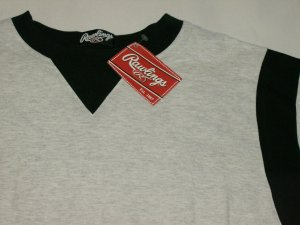 RAWLINGS NEW EMBROIDERED COTTON T SHIRT