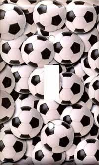 Soccer Balls Single Switchplate New Handcrafted USA