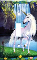 Unicorn Single Switchplate Cover New Handcrafted USA