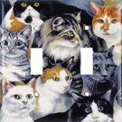 Just Cats Double Switchplate Cover New Handcrafted USA