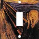Munch: Scream Single Switchplate New Handcrafted USA