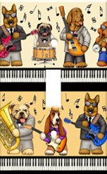 Musical Dogs Single Switchplate Cover Handcrafted USA