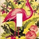 Flamingo Single Switchplate Cover Handcrafted USA