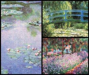 Monet Masterpiece Art Soap 3 Bar Set Handcrafted USA