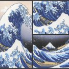 Hokusai Masterpiece Art Soap 3 Bar Set Handcrafted USA