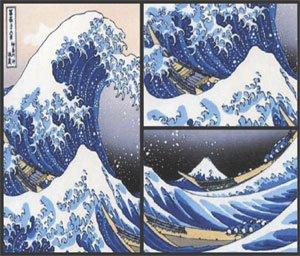 Hokusai Masterpiece Art Soap 3 Bar Set Handcrafted USA