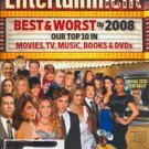 Entertainment Weekly mag - #1027/1028 dbl iss, December 26, 2008 - Best & Worst of 2008 cover